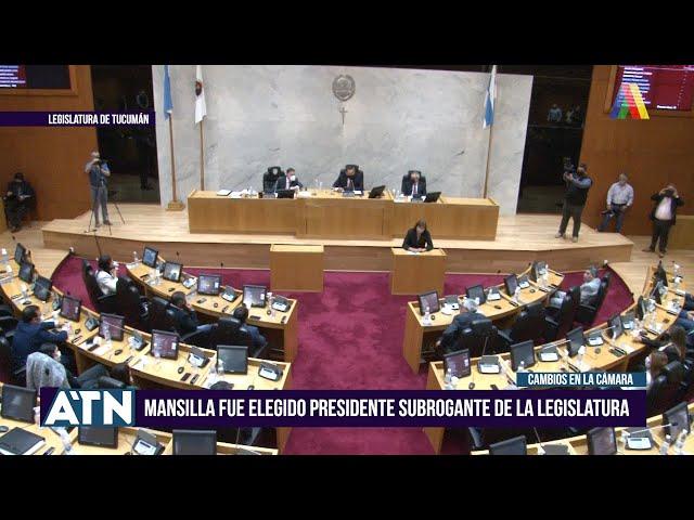 Mansilla será el Presidente Subrogante de la Legislatura