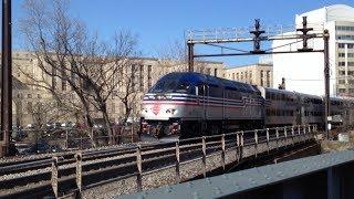 Virginia Railway Express Compilation at Washington, DC.