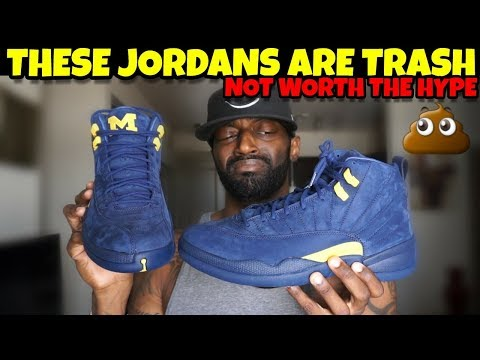 buy popular 9680c 0d1e0 Don't Buy Jordan 12 Michigan THEY ARE TRASH!! Not Worth The ...