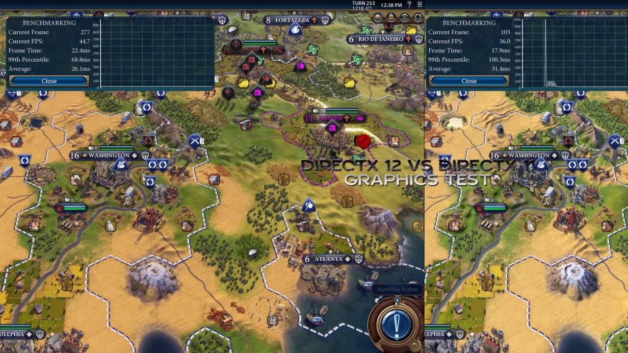 DirectX 12 vs DirectX 11 in Civilization VI – TURN TEST AND GRAPHICS  BENCHMARK / 4K
