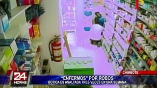 Chimbote: cámaras de seguridad captan asalto a farmacia
