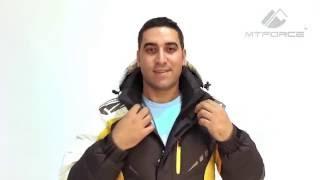 Куртка пуховик зимняя повседневняя мужская желтого, черного, красного цвета  9942