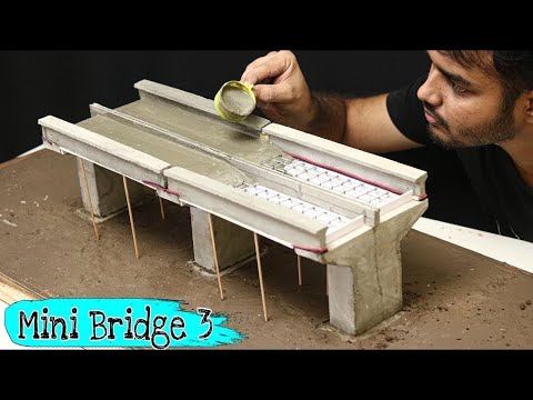 Concrete Bridge Model || Miniature Construction || Creative