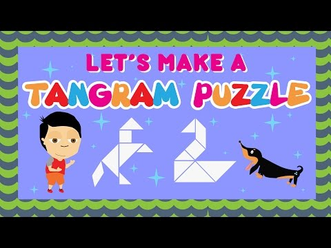 Play Tangram Puzzles With Dylan And Lazer | Activities For Kids