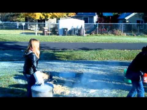 Crystal Lake South High School Raku Firing 10/23/13