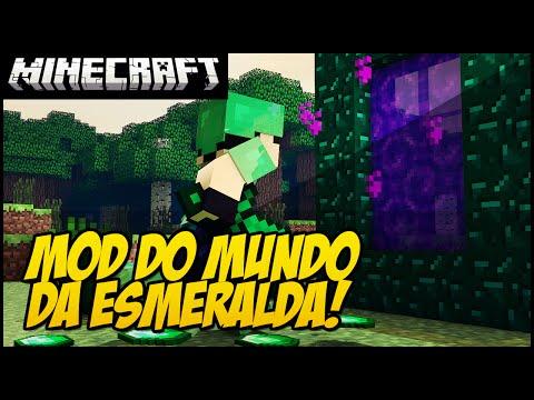 MINECRAFT - MOD DA ESMERALDA!! MUNDO DA...