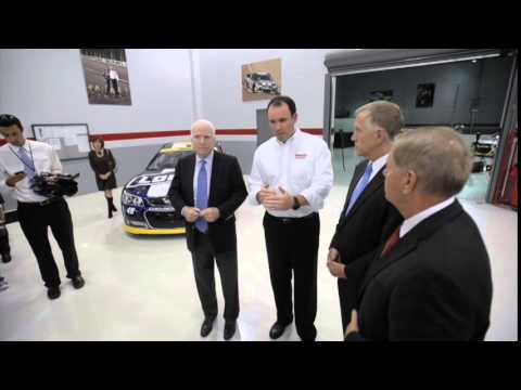 Thom Tillis tour of Hendrick Motorsports