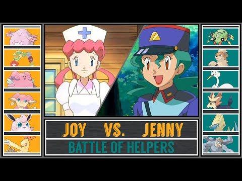 Nurse Joy vs. Officer Jenny (Pokémon Sun/Moon) - Battle of Helpers