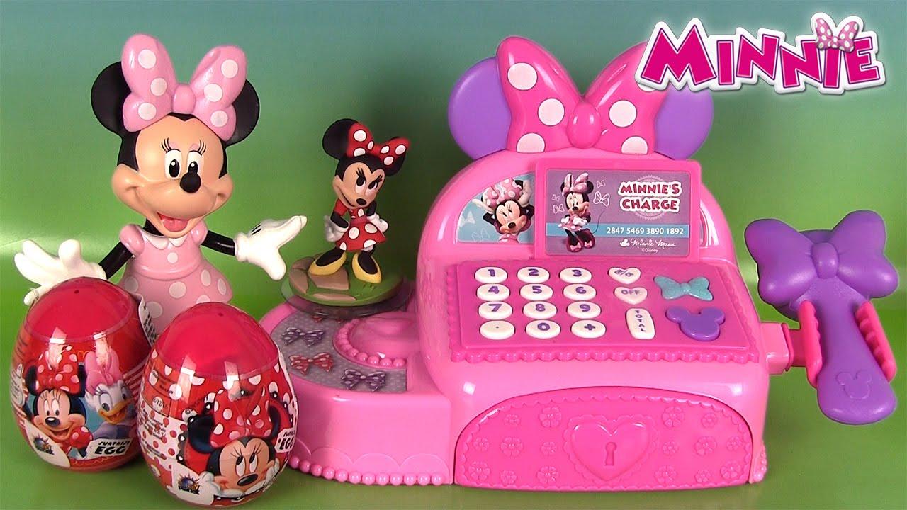 Minnie mouse caisse enregistreuse cash register oeufs surprise tsum tsum shopkins youtube - Coloriage minnie jouet ...