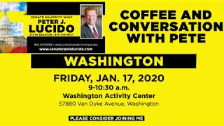 Sen. Lucido to host Coffee Hours on January 17
