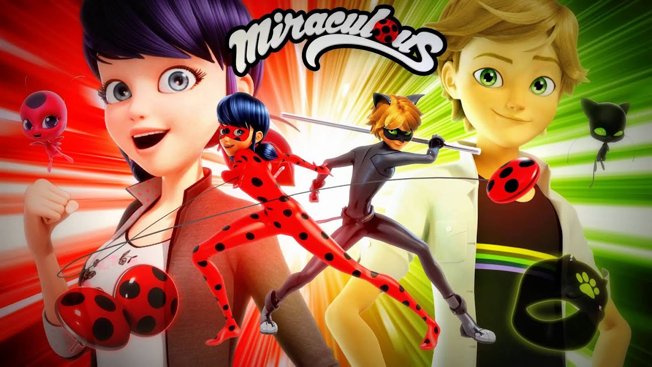 This is a graphic of Sly Pictures of Ladybug and Cat Noir