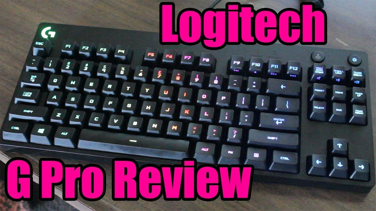 d61fbbf7a48 Logitech G Pro RGB TKL Mechanical Keyboard Review - Best TKL? - YouTube