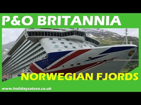 P&O Britannia cruise ship & cabin tour - Norwegian Fjords cruise