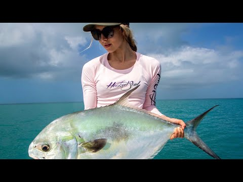 Catching HUGE Permit In Key West Florida