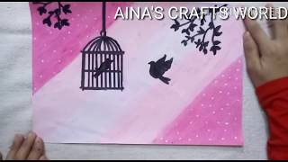 AINA'S CRAFTS WORLD // EASY OIL PASTEL DRAWING FOR BEGINNERS