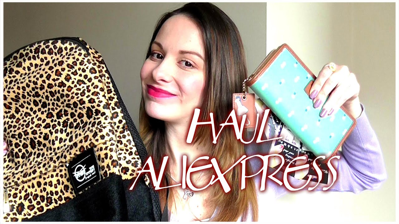 3fc37ba052f2 Haul Aliexpress   Compras carteras y mas... - YouTube