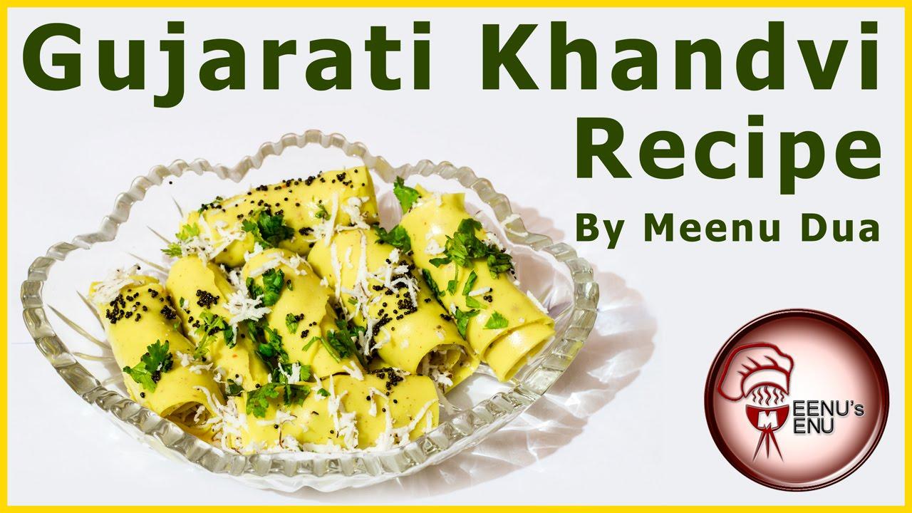 Khandvi recipe how to make gujarati khandvi in pressure cooker
