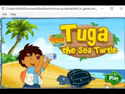 Go Diego Go - Tuga the Sea Turtle (2006 Flash Game)
