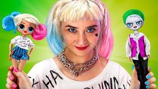 Transformazione in Harley Quinn  / 10 Lavoretti Fai-da-te per le LOL Surprise