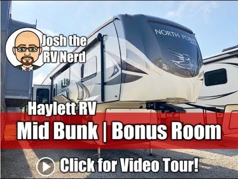 2018 Jayco 377RLBH North Point Middle Bunkhouse Bonus Room Luxury Fifth Wheel RV
