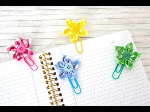 How to Make a Flower Paper Clip With Fabric - Easy Steps