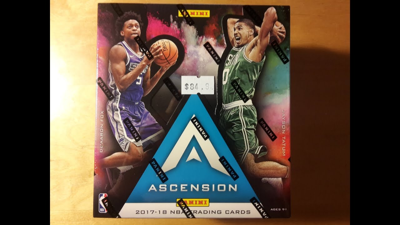 bd34c7630dd 2017-18 Panini Ascension Basketball Box Break and Review - YouTube