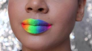 Rainbow lips- inspired by SF Gay Pride!