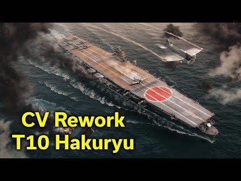 Hakuryu - Post CV Rework - Battle + Ship Overview - World of Warships
