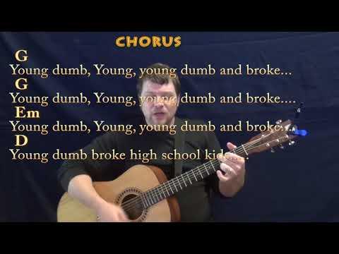 Young Dumb & Broke (Khalid) Guitar Cover Lesson in G with Chords/Lyrics - G Em D - Munson