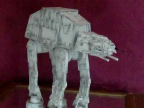 Papercraft papercraft star wars at at