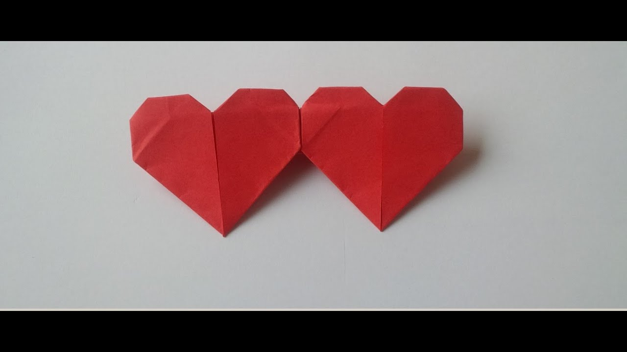 Origami - Double Heart - Craft Tutorial - YouTube