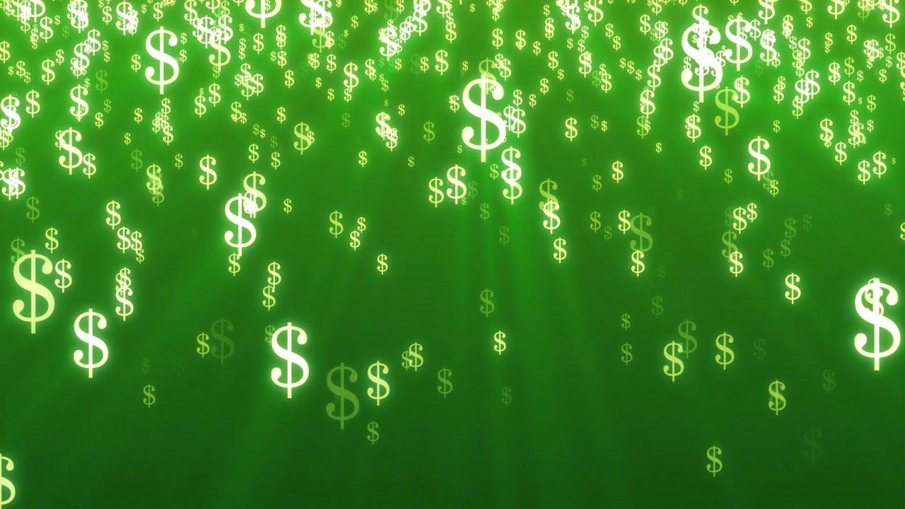 Falling Money 3d Wallpaper Premium Dollar Signs Money Free Stock Video Background Youtube