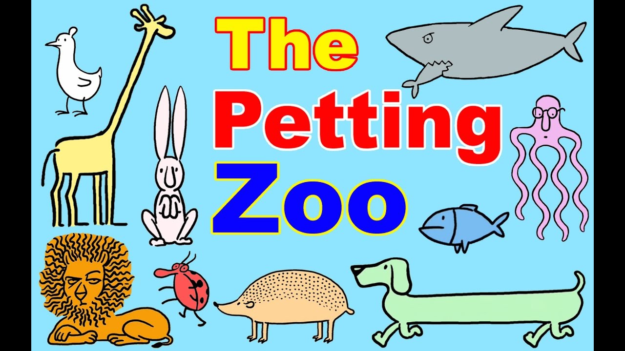 Petting Zoo Cartoon W Farm Animals For Toddlers Learn Animals