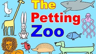 Petting Zoo Cartoon w/ Farm Animals for Toddlers! Learn Animals & English | Kids Learning :) thumbnail