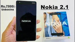 Nokia 2.1 Unboxing and hand on Review..... Hindi