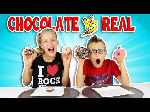 CHOCOLATE vs REAL 3!!!!!!!!