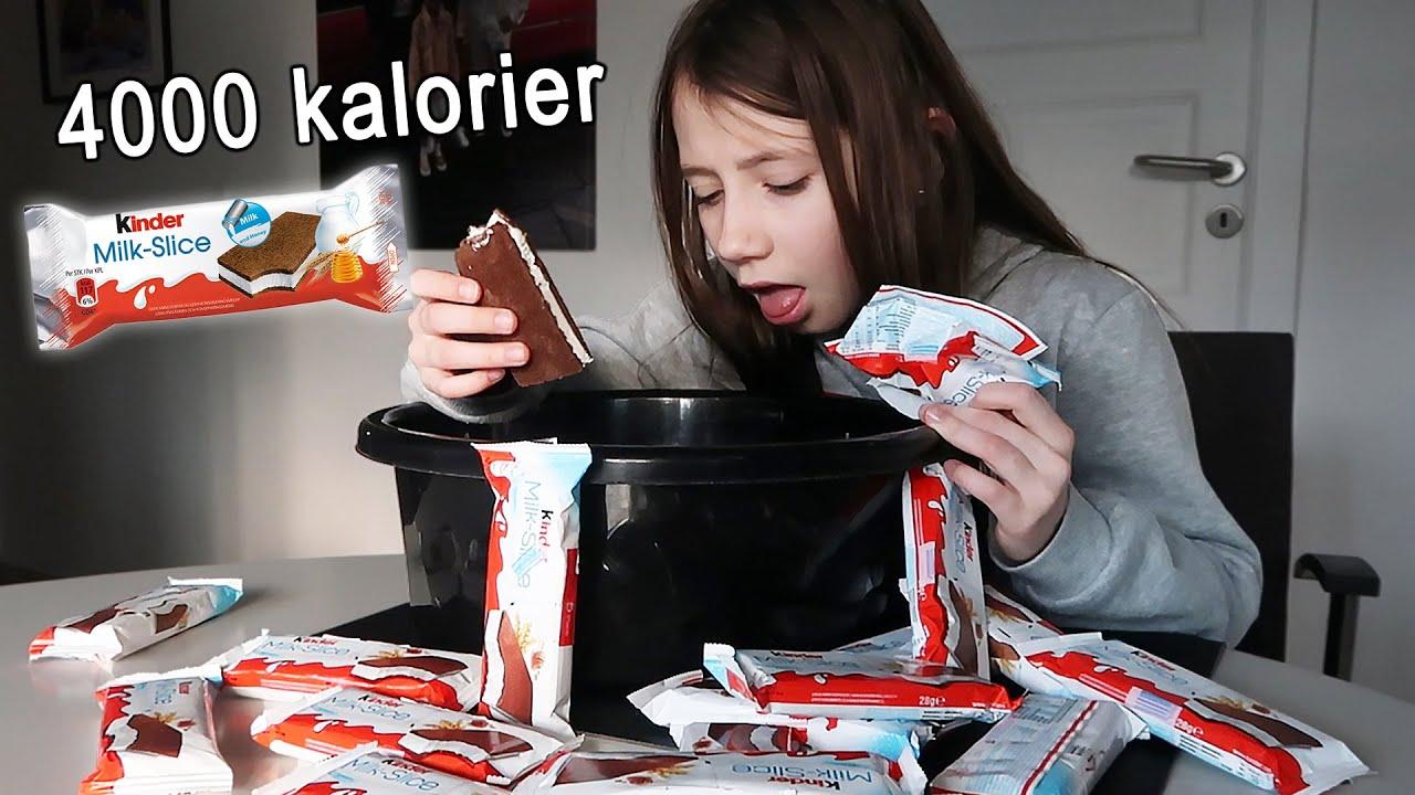 SPISER MÆLKESNITTER EN HELT DAG