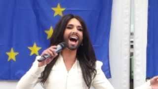 Conchita Wurst - live @ European Parliament 2/2 (8 October 2014)