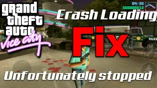 GTA vice city has unfortunately stopped and black screen loading/Crash Fix