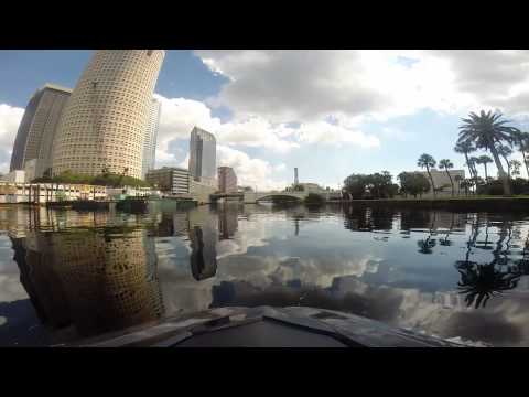 Go Pro High speed waverunner SHO trip from Hillsborough river through Tampa Bay to Alafia