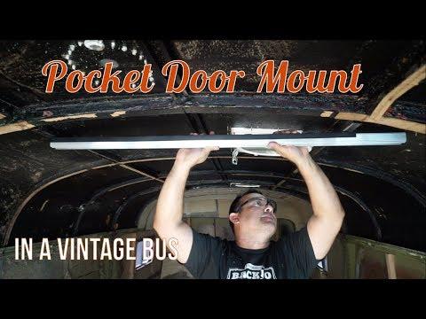 Pocket Door Mount for a Curved Ceiling