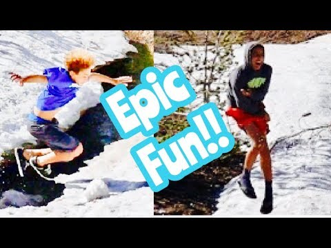 Intense SNOWBALL FIGHT in JUNE!  NEW HOUSE TOUR WIN a FaceTime