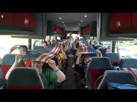 "Toki Middle School, Madison, WI, Bus 1, DC Trip 2017, ""God Bless the USA"" by Lee Greenwood"