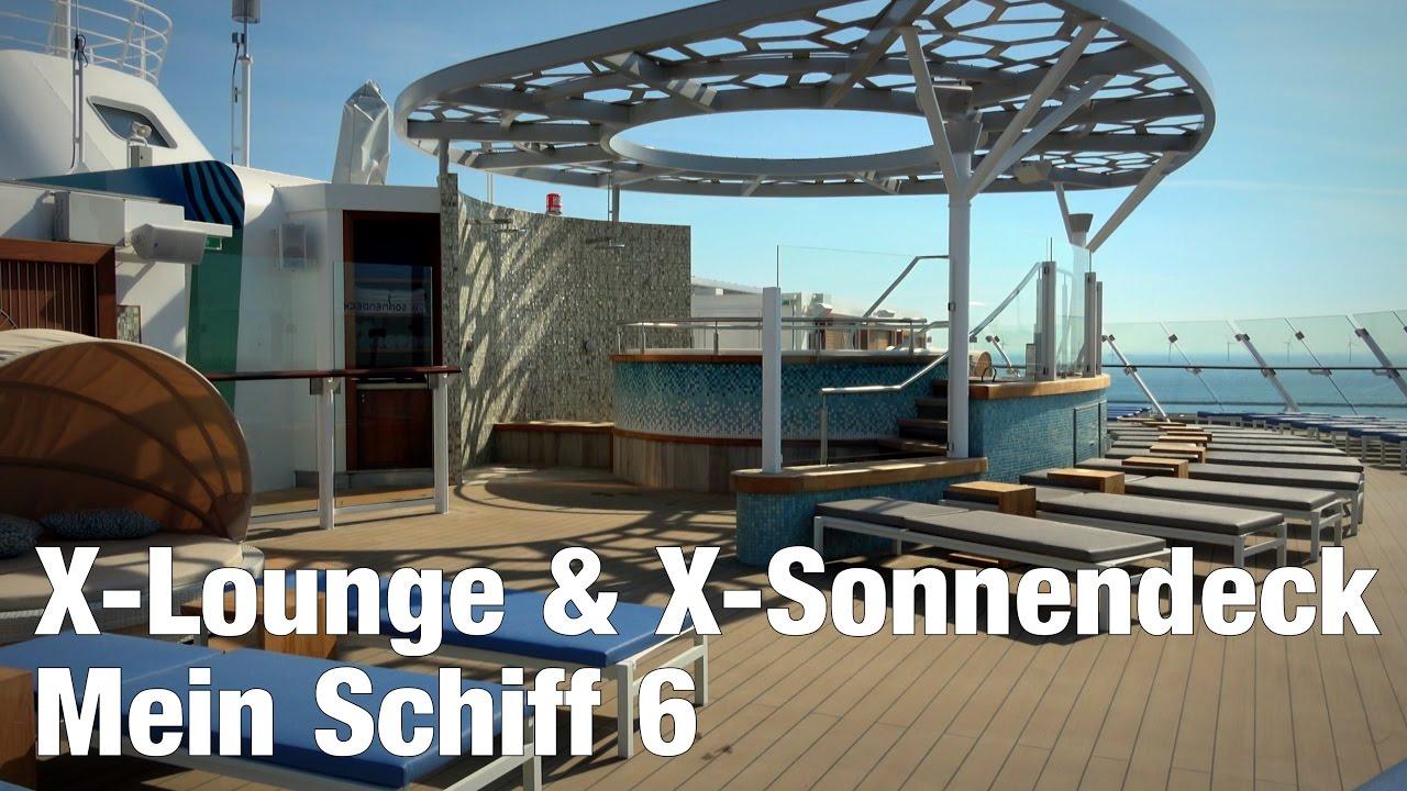 Mein Schiff 6: X-Lounge & X-Sonnendeck | Rundgang in 4K