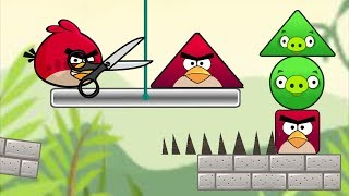 Angry Birds Pigs Out - RESCUE SQUARE BIRDS FROM ROUND AND TRIANGLE PIGGIES LEVELS!