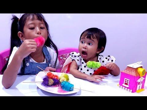 Squishy Dan Slime : SQUISHY Kinetic FOAM dan SLIME ?? Main MASAK MASAKAN ?? MAINAN ANAK PEREMPUAN ?? Jessica & Jenica ...