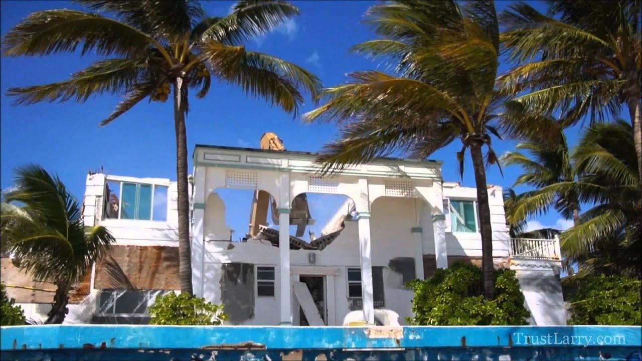 Beachfront Demolition North Atlantic Blvd Fort Lauderdale Fl Trustlarry Youtube