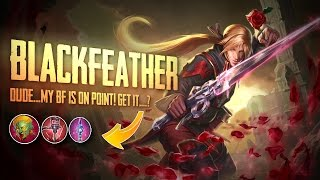 Vainglory Gameplay - Episode 280: MY BF IS ON POINT!! Blackfeather  WP  Lane Gameplay [Update 2.0]