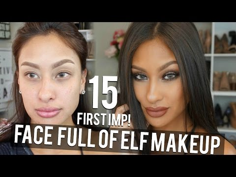 FACE  OF ELF MAKEUP TESTED 15 First impressions 100% CHEAP MAKEUP