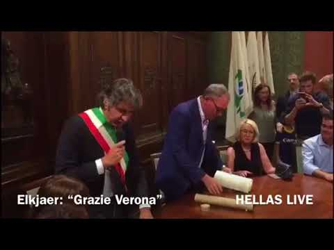 "Elkjaer: ""Grazie Verona!"""